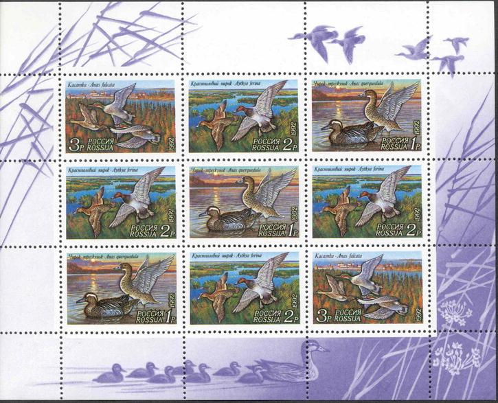 № 35-37. Ducks. 1 small sheet (kleinbogen)