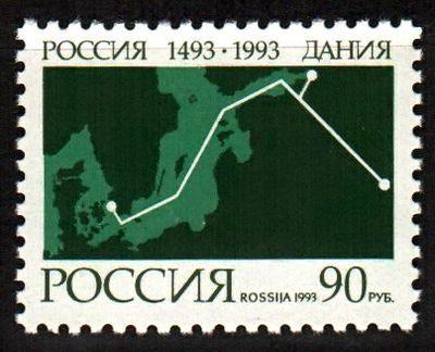 № 100. 500th anniversary of diplomatic relations between Russia and Denmark